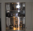 stylish interior accents in stainless steel pantry image
